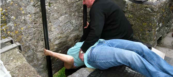 Blarney stone kiss