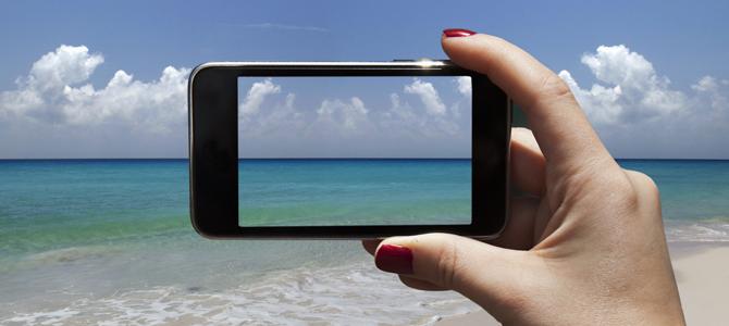 iPhone op vakantie