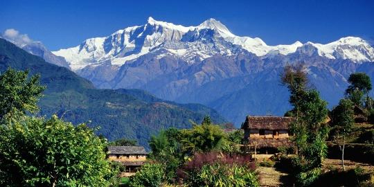 Uitzicht op de Annapurna in Nepal