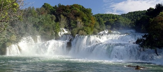 Watervallen in Kroatie