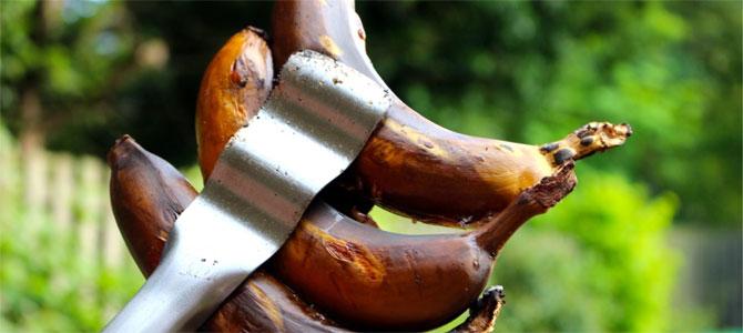 bananen van de bbq