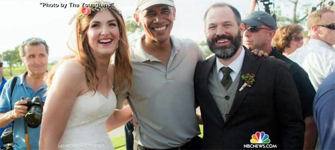 obama verrassing koppel huwelijk