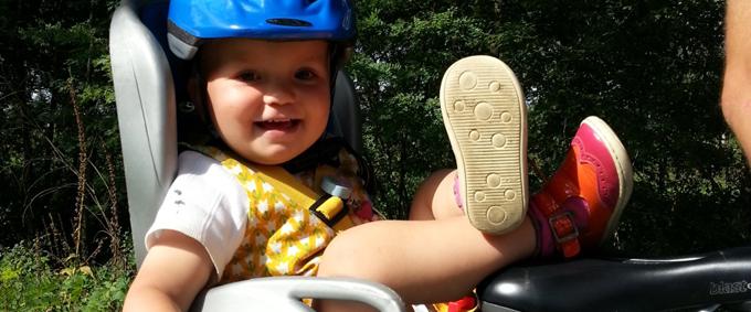 kind op fietszitje
