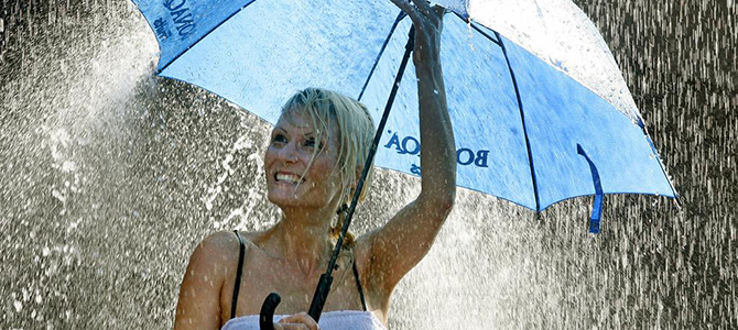 blij in de regen, zonder zon