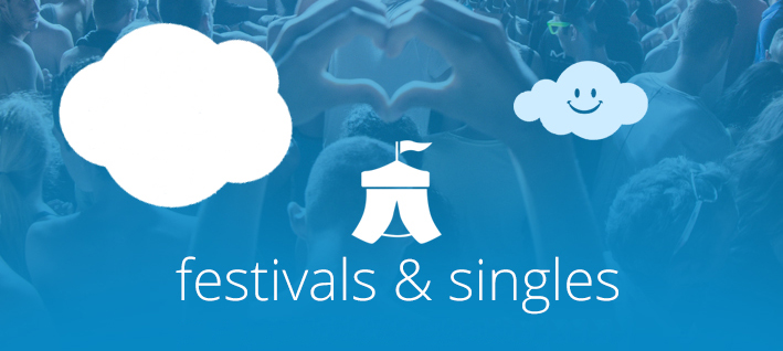 singels en festivals