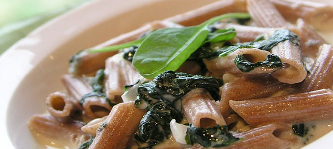 pasta spinazie boursinsaus